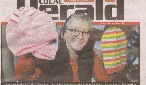 Knitter uses skills for charity – Courtesy of The Colac Herald