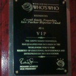World Wide Who's Who VIP Recognition!
